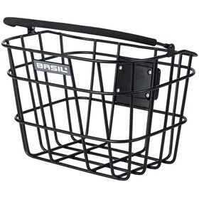 Basil Bremen Alu Front Wheel Basket with Klickfix matte black